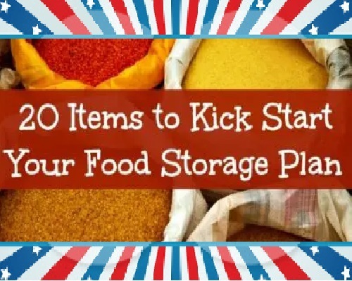* Your Long Term Food Storage Plan.